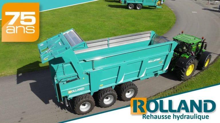 Rehausse hydraulique sur Rollspeed 7840